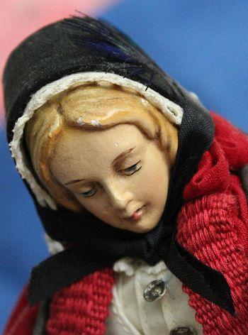 """Vintage English Peddler Sewing Doll 9"""""""