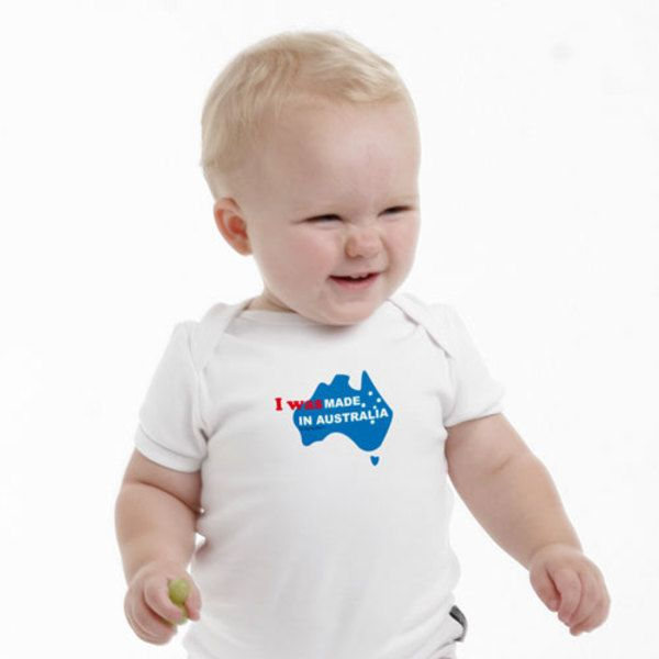 I was made in Australia baby romper