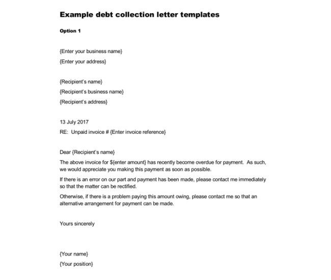 Collection Notice Letter Sample from i.pinimg.com