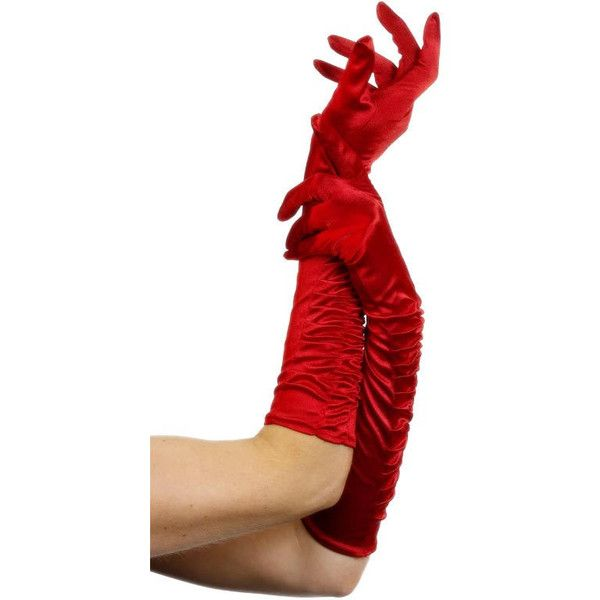 Gloves Temptress Red ($6.12) ❤ liked on Polyvore featuring accessories, gloves, red gloves and fancy gloves