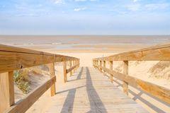 Camino a la playa Imagen de archivo