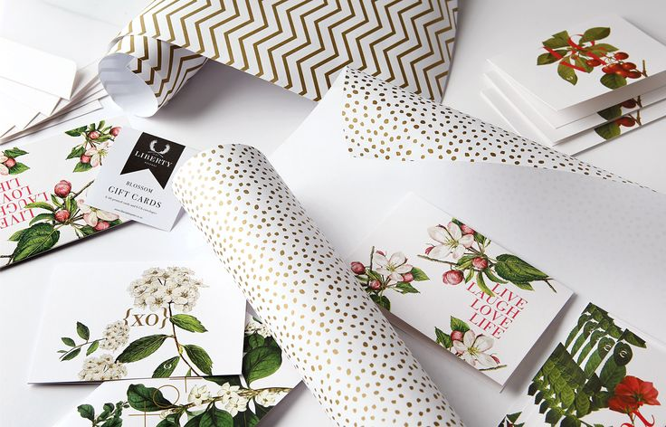 """I was inspired to create a range of bespoke stationery that has been designed as an expression of our natural environment. The end result is a crafted range reflecting a botanicals theme in conjunction with typography. The herringbone motif and the gold dot sit side by side in harmony."" - Dagmar Palmer, creator and founder of Liberty Bespoke"