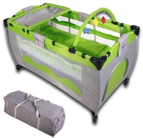 Baby #travel cot portable playpen infant play bassinet foldable #sleep #mattress,  View more on the LINK: 	http://www.zeppy.io/product/gb/2/181850582386/