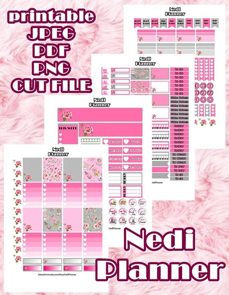 Printable Planner Stickers, Erin Condren Planner | Craftsy