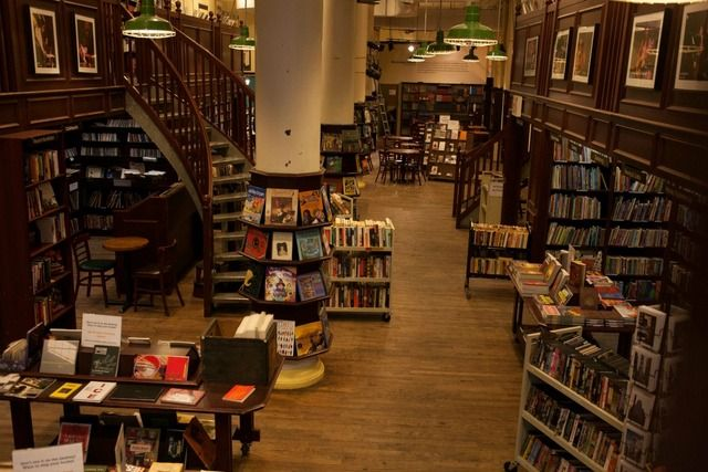 #Books #NewYorkCity | Housing Works Bookstore, Crosby Street, Manhattan. This wood-lined room has floor-to-ceiling books, many for just a dollar. You can enjoy a beer or wine from its café while you devour your latest find in a bohemian, welcoming atmosphere.