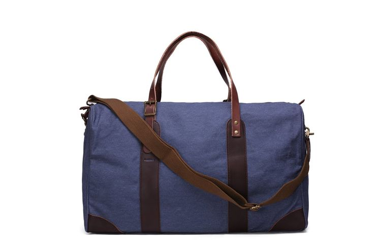 Leather Trimmed Waxed Canvas Travel Bag Duffle Bag Holdall Weekender Bag YD2095 *********************** We use selected thick genuine cow leather,...