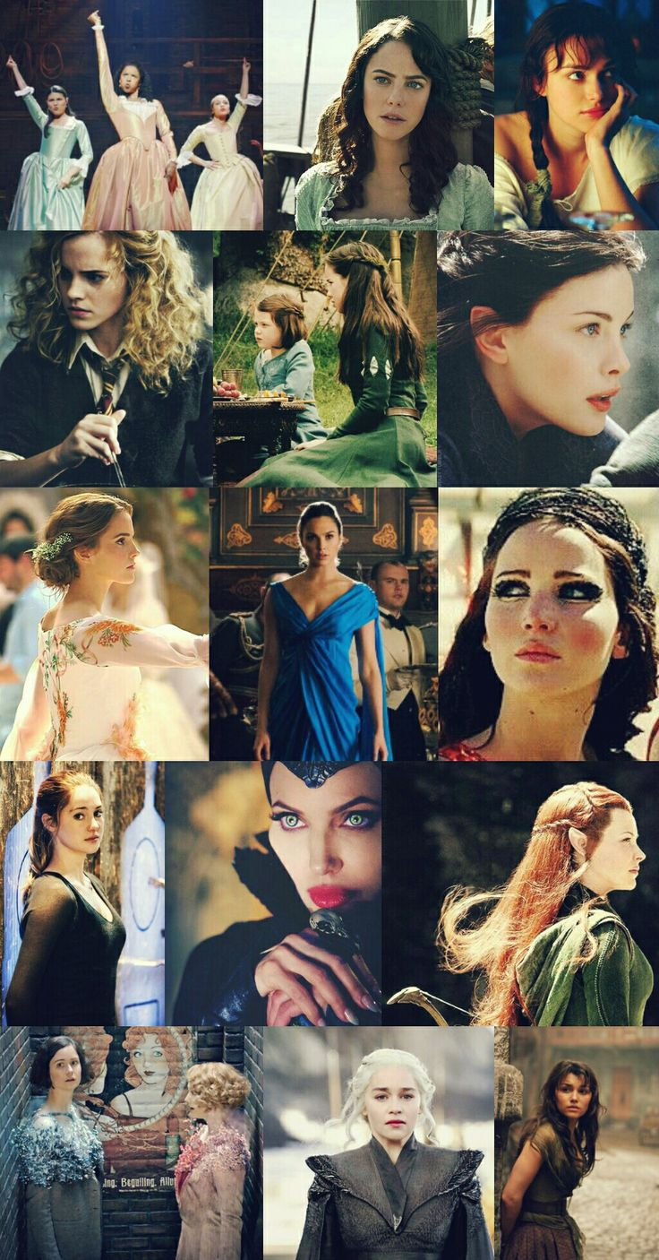 Heroines of our generation Eliza, Angelica and Peggy Schuyler Carina Barbossa Eliza Bennet Hermione Granger Lucy and Suzzane Pevennsie Arwen Belle Diana Prince (WW) Katniss Everdeen Tris Prior Maleficent Tauriel Tina and Queenie Goldstein Deanerys Targaryen Eponine