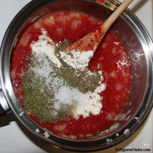 Homemade Tomato Sauce From Tomato Puree Recipe Homemade Pizza And Pasta Sauces