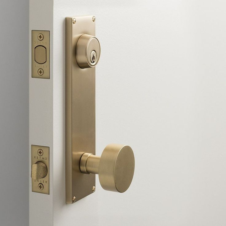Tate Door Set With Cylinder Knob   Satin Brass