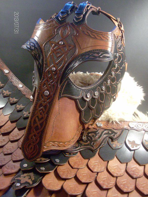 The black horse armor by Zoltán Koszta, via Behance