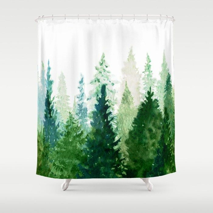 Buy Pine Trees 2 Shower Curtain By Nadja1 Worldwide Shipping