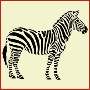 zebra, zebra stencil, wall stencils, children's stencils, animal stencil