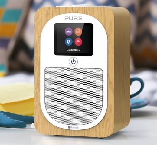 Pure H3 DAB radio with DAB+ and FM - available in oak finish (as shown) or walnut