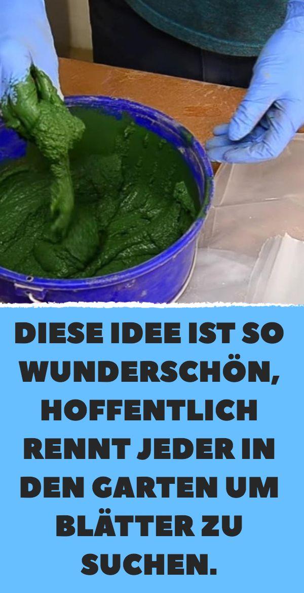 Diese Idee ist so wunderschön, hoffentlich rennt jeder in den Garten um Blätte… – Angela Kirsch