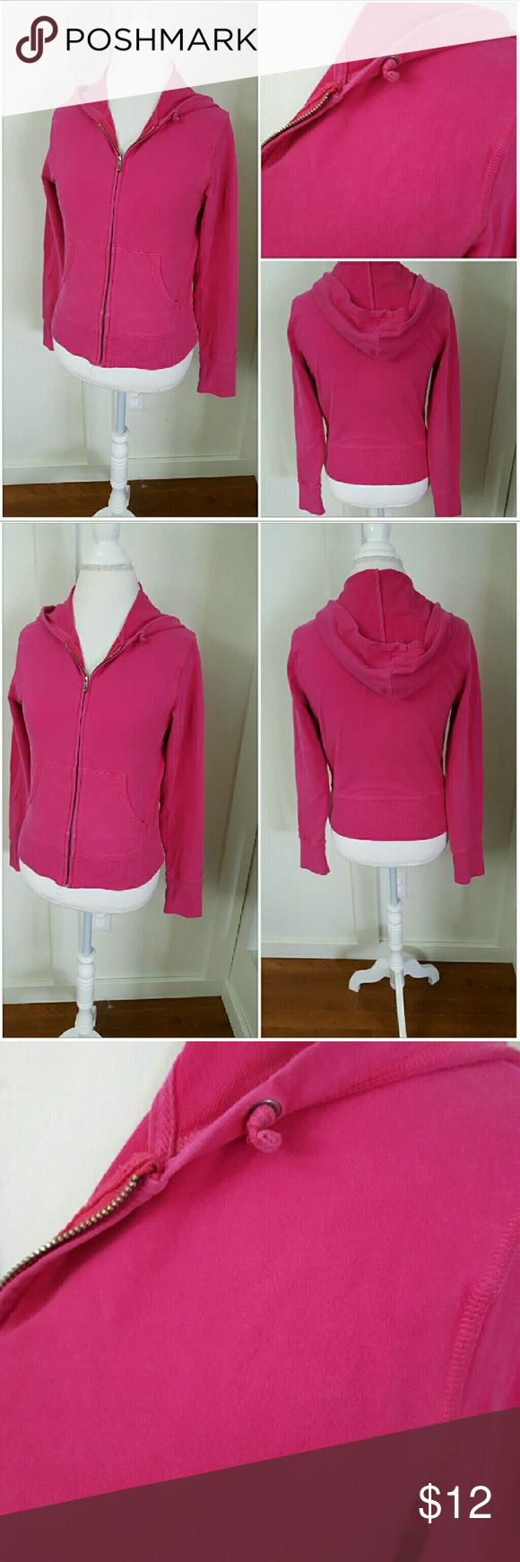 CHAMPION MEDIUM PINK ZIP UP LONG SLEEVE HOODIE Champion medium pink hoodie. Zip up. Long sleeves. Pre-owned and in good condition. 96% Cotton 4% Spandex Champion Tops Sweatshirts & Hoodies