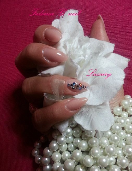 Rose acrylic and swarovsky