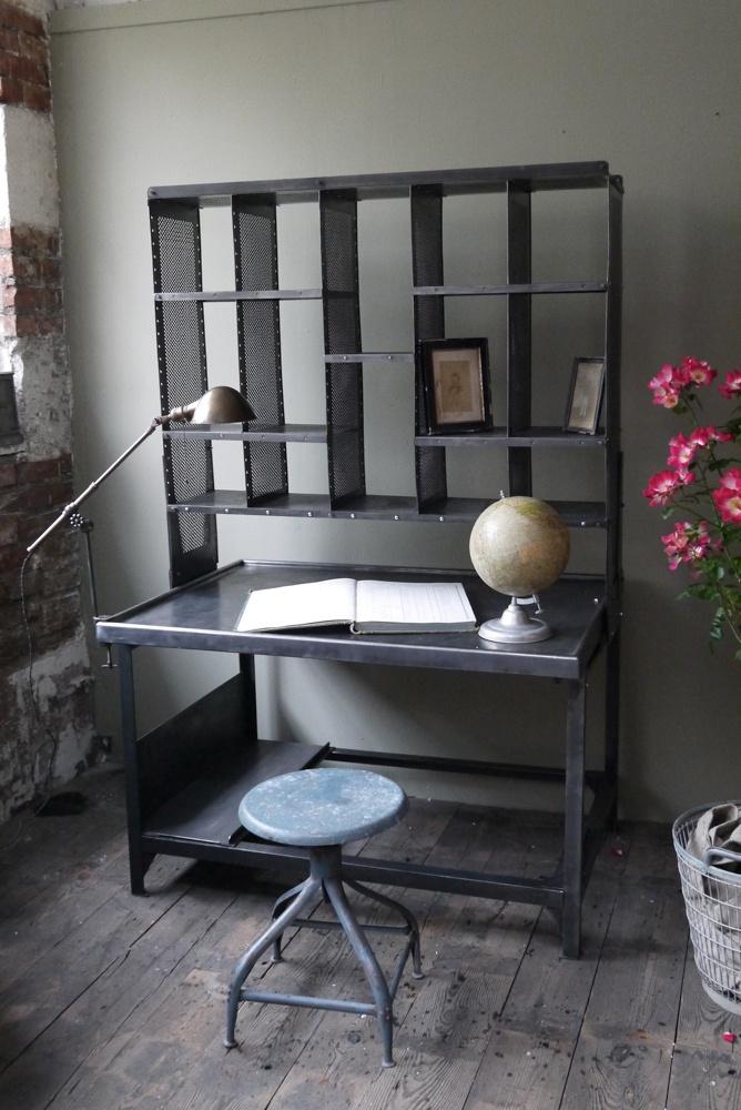 meuble metier grand bureau tri postal industriel atelier loft - Table Atelier Loft