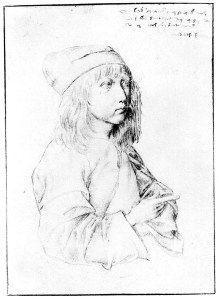 """Durer autoportrait """"enfant""""   img013"""