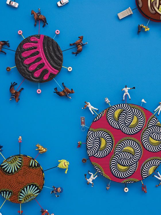 Yinka Shonibare MBE, New York Toy Painting (detail), 2012
