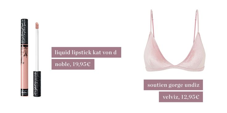 Tendances rosées de mars kat von d, undiz, pink, make up, Sephora, mood, underwear