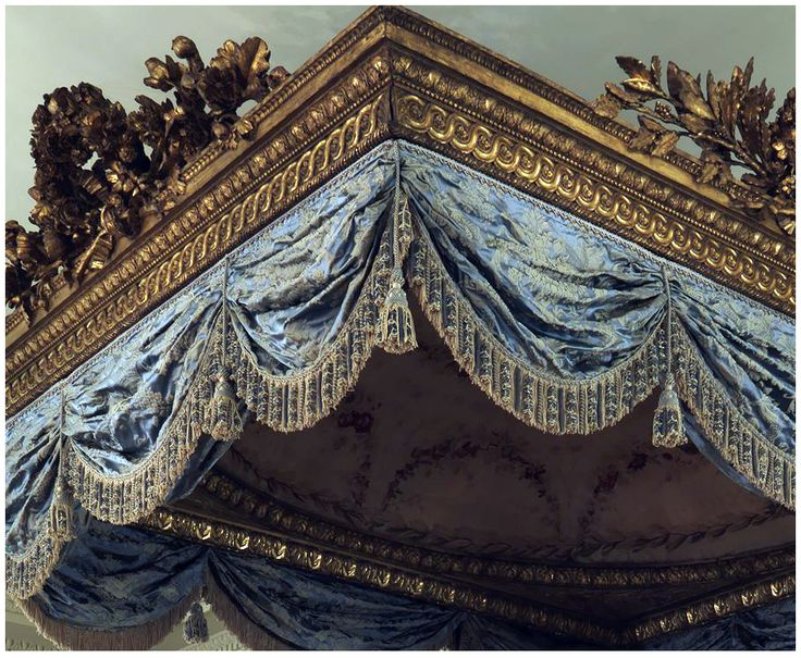 Detail from 18th Century French state bed at the Metropolitan Museum of Art.  Passementerie by Sevinch