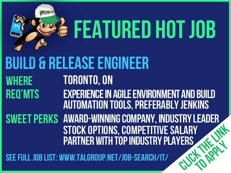 hiring a build release engineer in toronto on client