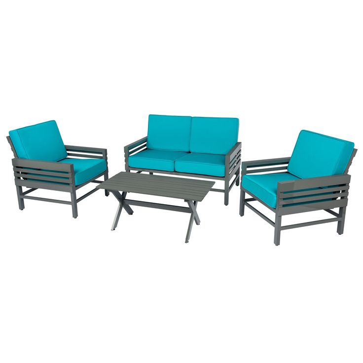 This Contemporary Outdoor Furniture Set Is Made From Powder Coated Aluminum  That Is Extremely Sturdy But Part 46