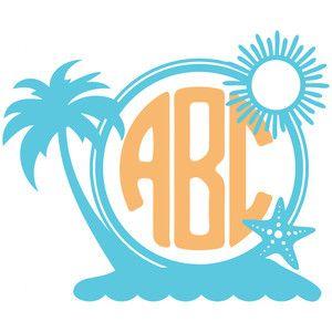 Silhouette Design Store: beachy monogram frame
