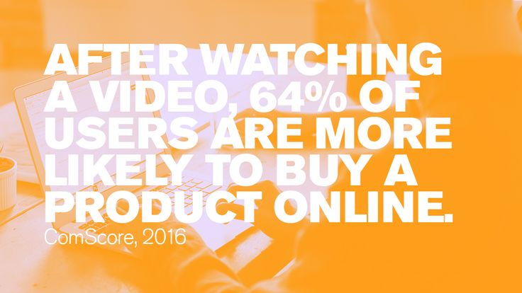 After watching a video, 64% of users are more likely to buy a product online. #Blogs #ContentMarketing #Blogging #YouTube #videos #Digitalmarketing #videomarketing