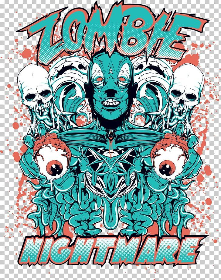 T Shirt Zombie Illustration Png Advertising Anime Eyes Cartoon Eyes Eye Glasses Fictional Character Latar Belakang