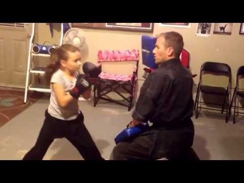 Kenpo Karate Pad Drills for Kids - YouTube