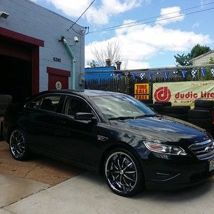black 22 inch rims on new ford taurus - Google Search