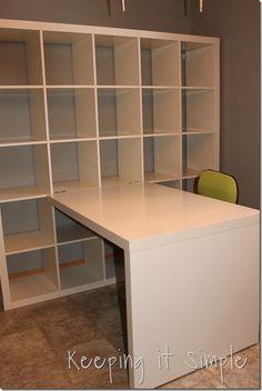 Keeping it Simple: Ikea Expedit Shelf in my craft room! Yarn storage, organization