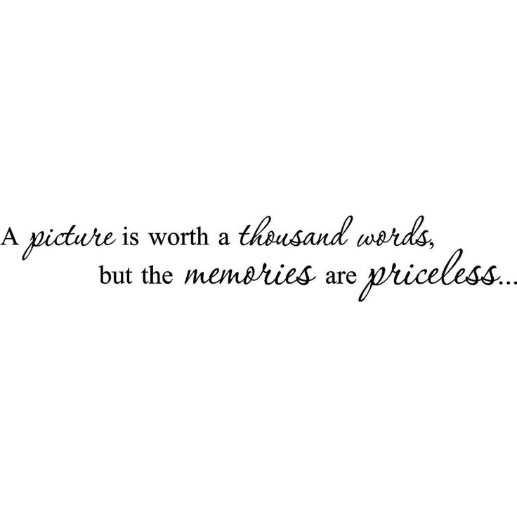 'A picture is worth a thousand words but the memories are priceless' Vinyl Wall Art Lettering | Overstock.com Shopping - The Best Prices on ...