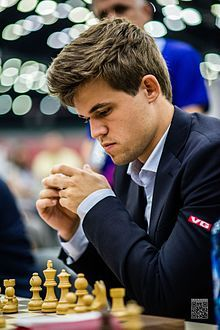 Magnus Carlesen, 1990 world chess champion.
