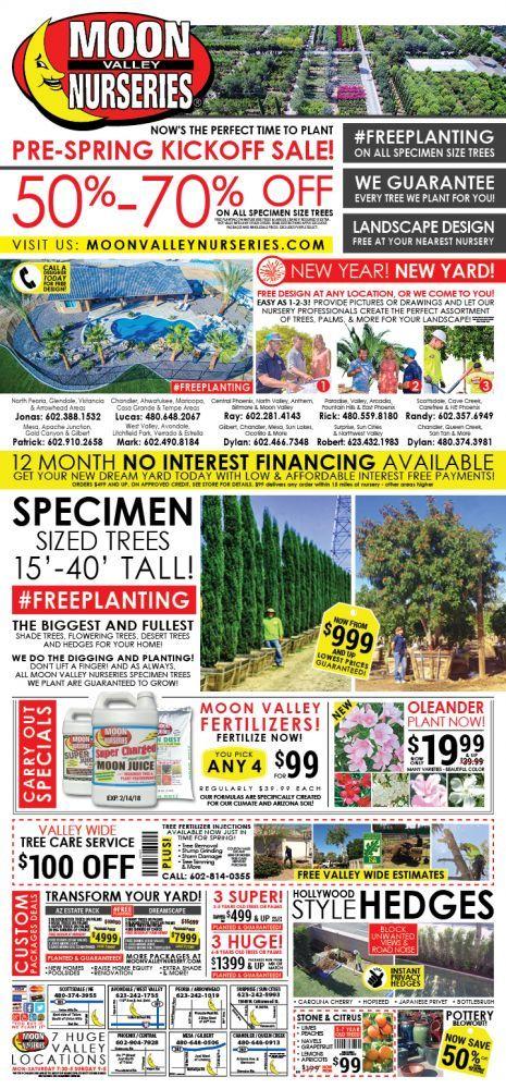 Current Ad | Tree and Plant Nursery | Moon Valley Nurseries
