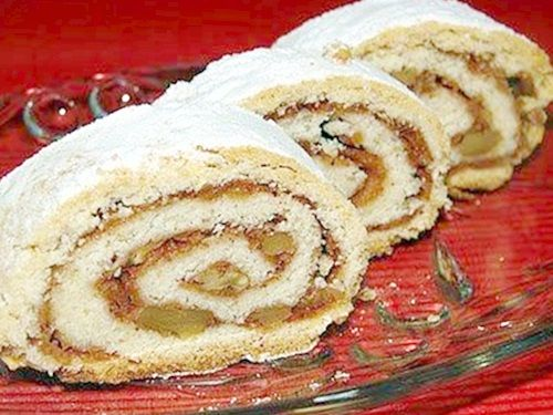 elmalı rulo pasta