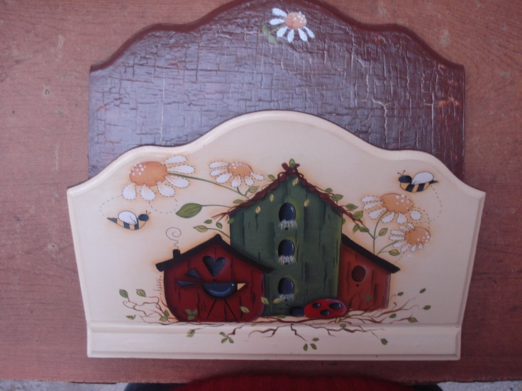 Porta cartas: Atölye Deqoupage, Madera Country, Paint, Decorative Boxes, Decorative Painting, Decorative Painting, Pintura Contry