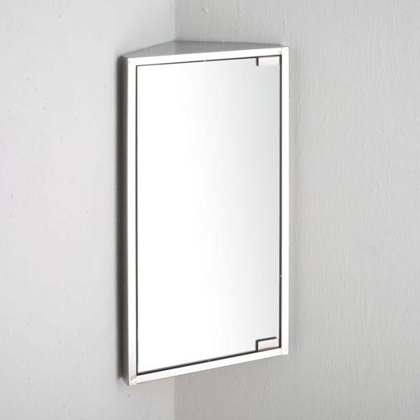 Corner Bathroom Mirror Cabinet Wall Hung 600mm X 300mm Space Saving Mirror Storage Bilbao Corner Bathroom Mirror Corner Mirror Mirror Cabinets