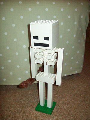 Lego Minecraft Custom Built Skeleton with Instructions | eBay