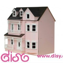 <p><strong>Casa de muñecas Exmouth rosa de escala 1:12, casita de muñecas</strong>de 2 plantas más la buhardilla con techo abatible y un total de 5 habitaciones grandes para decorar.</p>  <p>Realizada en DM, pintada en color rosa por fuera y sin empapelar por dentro para que puedas decorarla como quieras.</p>  <p>En kit de fácil montaje ( incluye manual de montaje ).</p>  <p>Medidas: 57 cm de largo x 41 cm de profundidad x 60 cm de alto.</p>  <p>Casitas de muñecas Sin empapelar - Sin…