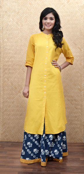 Summer Essentials:Yellow Khadi Kurta #Summer #OOTD #HandmadeWithLove