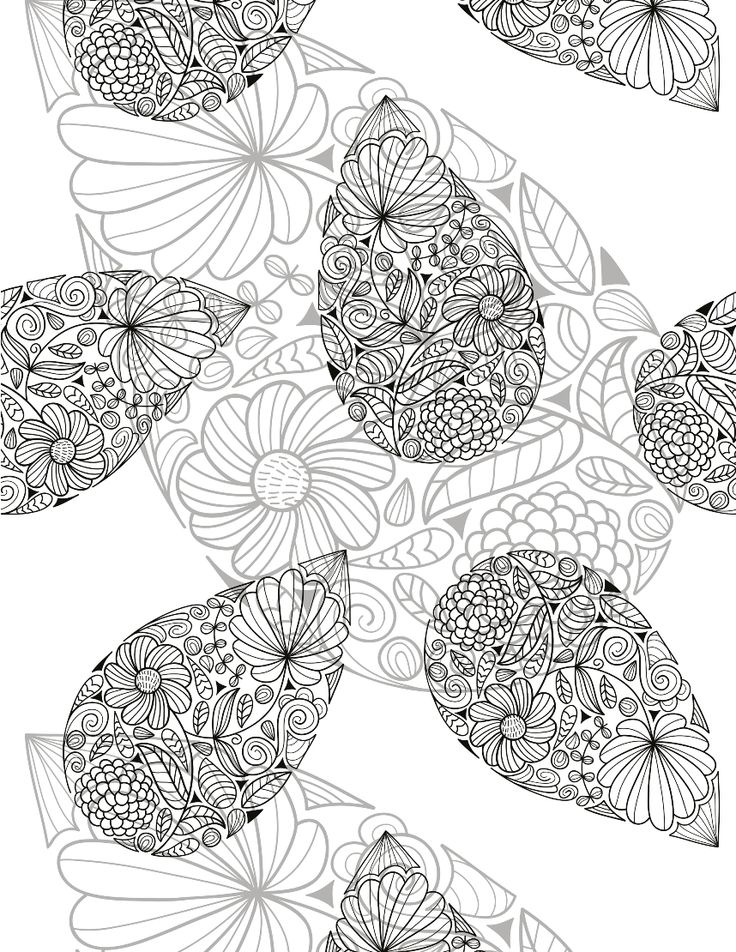 leaf coloring pages for adults - photo#45