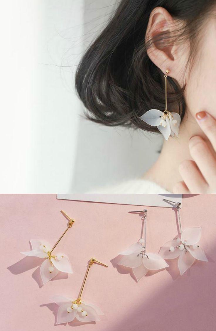 eed1228dac8d6a Sanbil - Sterling Silver Petal-Drop Earrings #earring #accessories  #SterlingSilverBeautiful #SterlingSilverWhiteGold