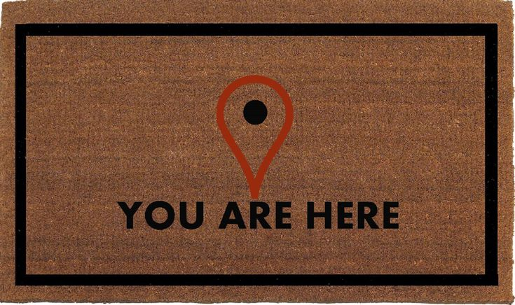 You Are Here, Map Locator Icon Funny Door Mat, Coir Doormat Rug, 24 Inches x 35 Inches, Welcome Outdoor Mat, Housewarming Gift, Hand Painted by FranklinandFigg on Etsy https://www.etsy.com/listing/272129462/you-are-here-map-locator-icon-funny-door