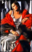 Portrait of Mrs Boucard, 1931  by Tamara de Lempicka (inspired by)