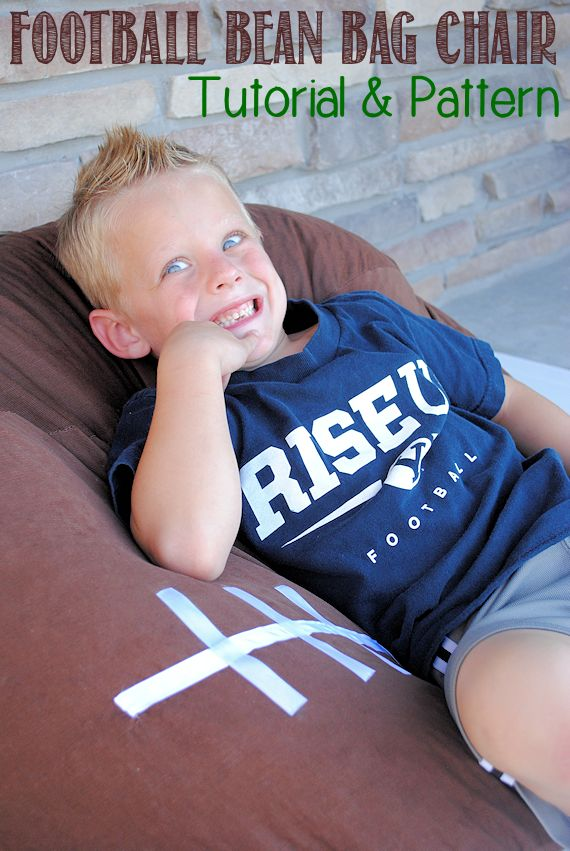 Kid's Football Bean Bag Chair Pattern by Crazy Little Projects