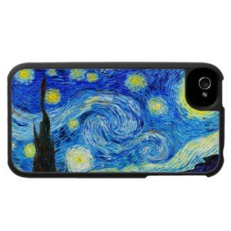 SOLD! - Cool Starry Night Vincent Van Gogh painting Speck® Fitted™ Fabric-Covered Hard Shell Case for iPhone 4/4S