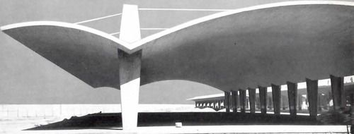 Los Almacenes de las Aduanas de Pantaco, Azcapotzalco, México DF 1952 Arqs. Félix Candela y Carlos Recamier   Customs warehouses Pantaco, Atzcapotzalco, Mexico CIty 1952