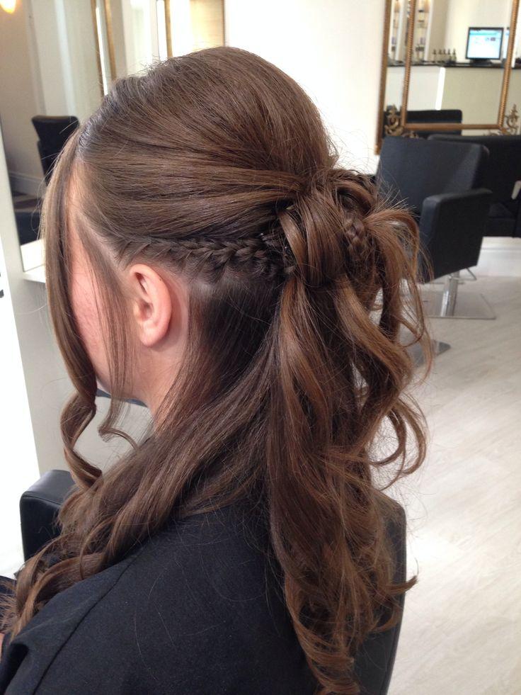 Hair up #prom #plait #curls